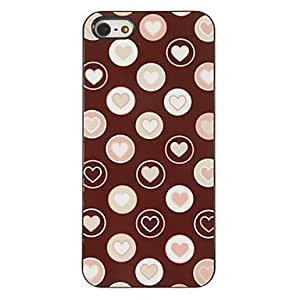 QJM Romantic Hearts in Bubbles Pattern PC Hard Case with 3 Packed HD Screen Protectors for iPhone 5/5S