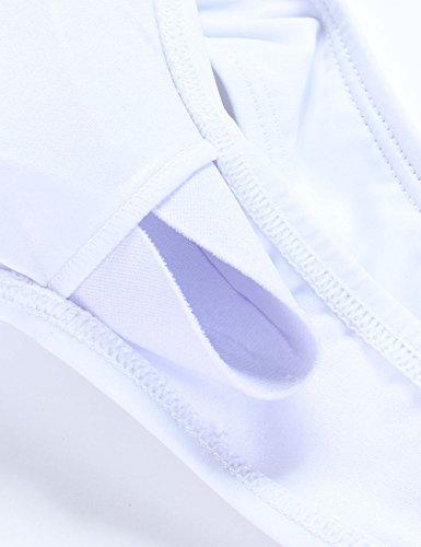 Brasiliana 3 pezzi Sexy Push donna Up da alta bagno Tankini Costume Vita Feelingirl Bikini Set 2 Set Bianco 7YT8qw