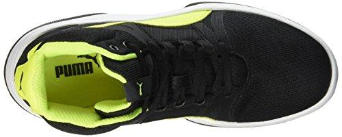 Puma Rebnd Street Evo - Zapatillas de deporte Niños Negro - Noir (Black/Safety Yellow)