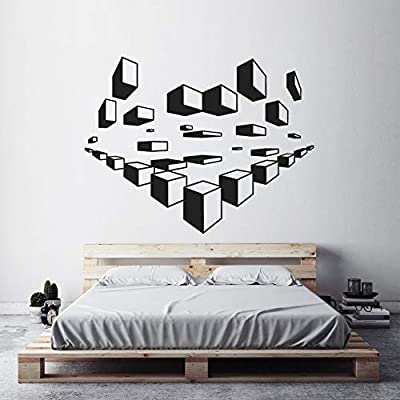 Moda Arte Apliques de pared Cubo Pegatinas de pared Creative ...