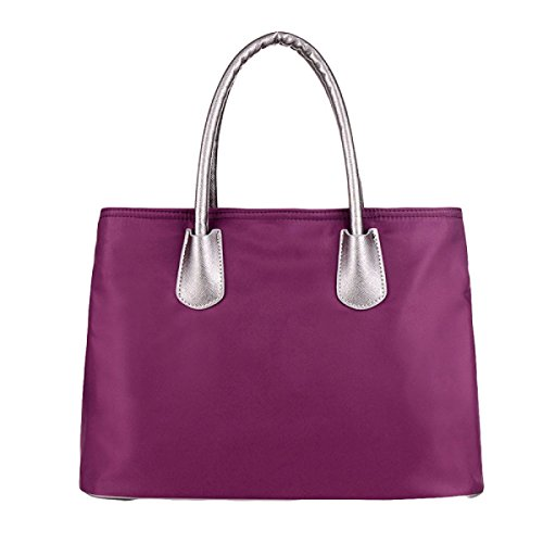 Bolso De Nylon Del Bolso De Nylon Del Bolso De Las Mujeres Bolso Ocasional Del Mensajero Del Bolso Purple