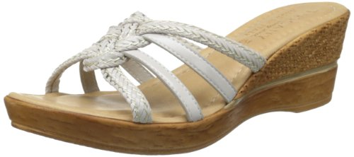 Tuscany by Easy Street Women's Sorano Wedge Sandal,Light Taupe,9.5 M US