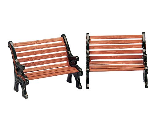 Table Accents Lemax Set of Two Park Benches