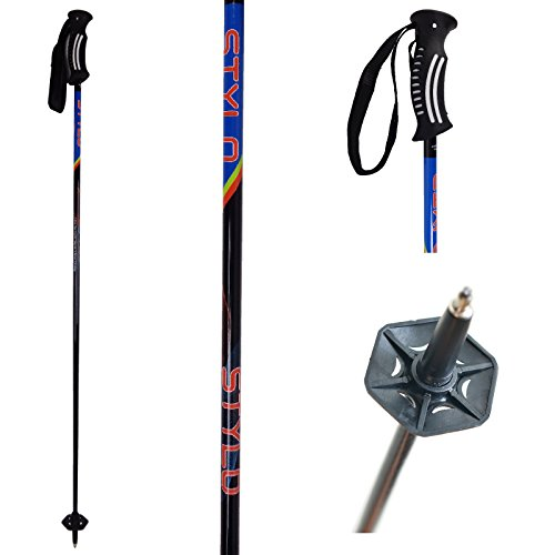 Ski Poles Carbon Fiber Graphite Composite Mens / Womans / Youth - Stylo Trixcomp