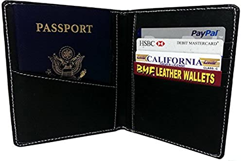 06. BMF Embroidered Leather Wallet Passport Edition Black