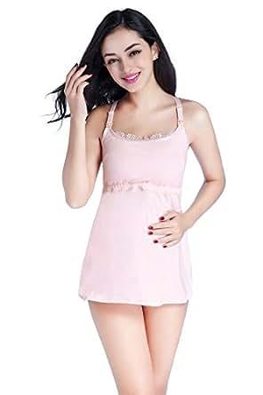 Sunnyhu Women's Maternity Bra, Nursing Tank Tops (S, Pink)