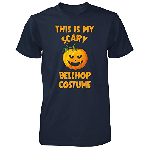 Bellhop Costume Male (This Is My Scary Bellhop Costume Halloween Gift - Unisex Tshirt Navy 4XL)