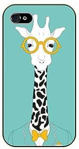 Diy design iphone 6 (4.7) case, giraffe, with glasses - iPhone 6 black plastic case / Animals and Nature, nerd