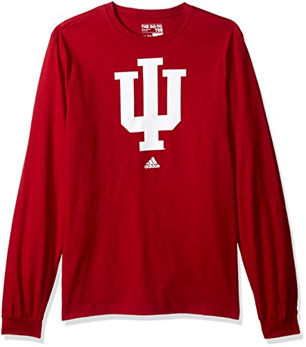 s Adult men School Logo L/S Tee,Large,Red ()