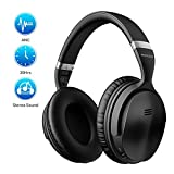 Mpow H5 [Upgrade] Active Noise Cancelling Headphones, Superior Deep Bass Bluetooth Headphones Over Ear, 30Hrs Playtime (ANC) Wireless Headphones, Soft Protein Earpads, for TV/PC/Cellphone/Travel/Work