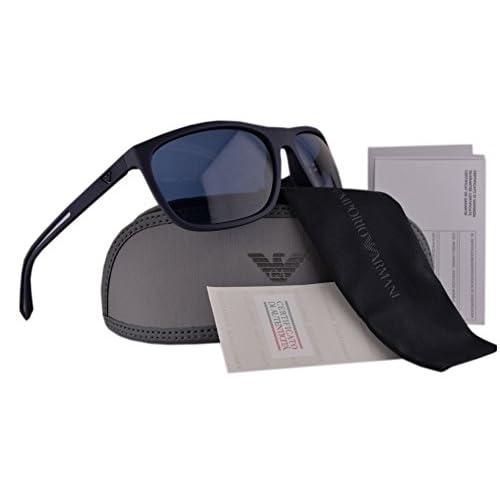 23a9d8b559dd new Emporio Armani EA4078 Sunglasses Blue Rubber w Blue Lens 506580 EA 4078  For Men