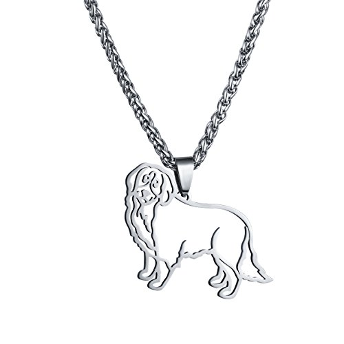 Stainless Steel Bernese Mountain Dog Outline Pet Dog Tag Breed Collar Charm Pendant Necklace Bernese Mountain Dog Collars