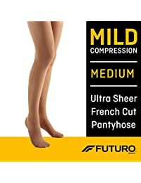 Pantyhose for Women, Mild Compression, Medium, Nude, Helps Improve Circulation to Help Minimize Swelling