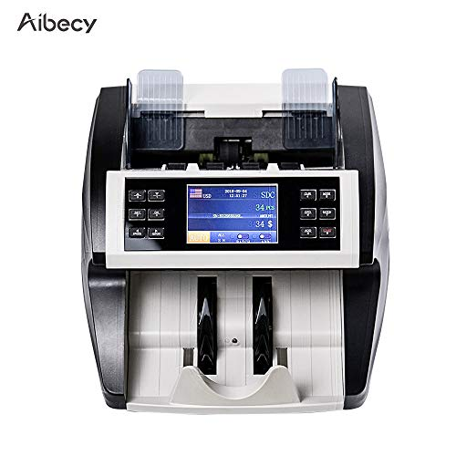 Aibecy Bill Counter Multi-Currency Cash Banknote Money Bill Automatic Counter Counting Machine with UV MG MT IR Counterfeit Detector Supports Mixed Value Counting Function for EURO/USD/GBP/AUD/JPY/KRW (List Of Currencies Of Different Countries With Images)