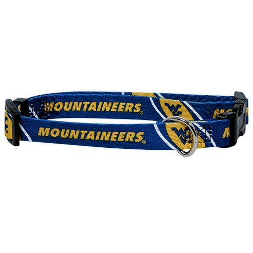 Hunter MFG West Virginia Mountaineers Dog Collar, Medium