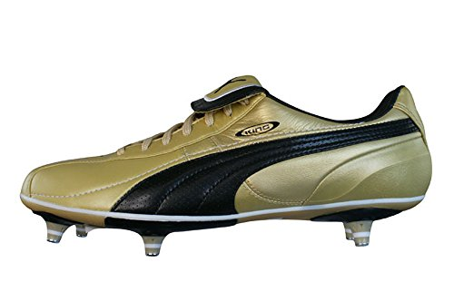 Puma King XL SG Mens Leather soccer Boots / Cleats - Gold -