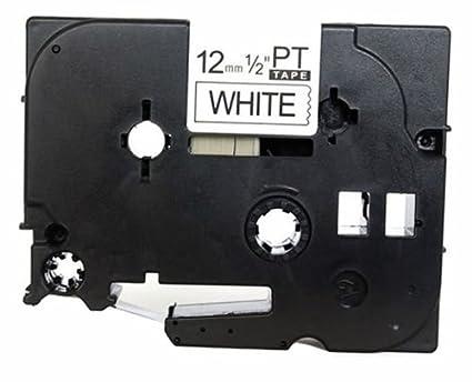 Schriftband-Kassette 12mm schwarz auf weiß für P-Touch 1005FB 1010 u.a.