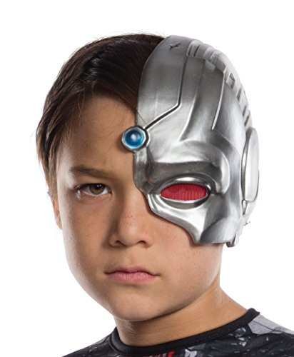 Rubie's Costume Boys Justice League Cyborg Half-Mask Costume, One (Justice League Cyborg Costume)