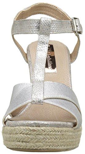 XTI 030609, Sandalias con Plataforma para Mujer Plateado (Plata)