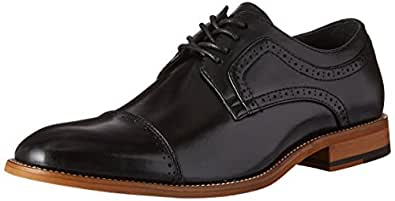 STACY ADAMS Men's Dickinson Cap Toe Oxford, Black, 7 M US
