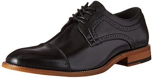 STACY ADAMS Men's Dickinson Cap Toe Oxford, Black, 9.5 M US