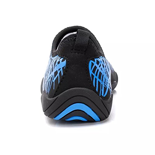 Schnell trocknende Aqua-Wasser-Schuhe Santiro Frauen-Männer für Strand-Pool-Brandungs-Yoga-Übung Blau 1