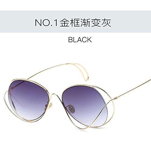JUNHONGZHANG Creativo de De De Gafas Gafas Gafas De Decorativas de Gradiente Ceniza Polígono De Sol gradiente De dorado De Mujer marco Fotográficas De Dorado Ceniza Viaje Gafas Sol Sol rFxq5tXr