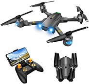 Drone with Camera for Adults - Wide-angle RC Quadcopter for Beginners, FPV Live Video, Altitude Hold, Headless