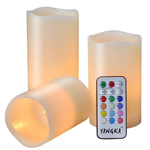 SS-YANGKA Flameless Candles, 3-In-1 LED Candles, Remote Control 4