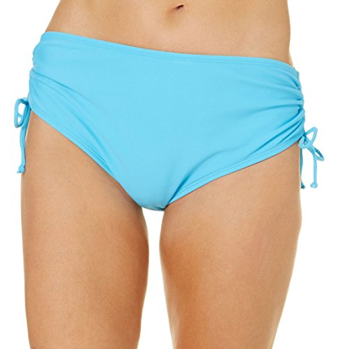 Solid Adjustable Swim Bottoms Large Turquoise Blue (Avenue Swimsuit)