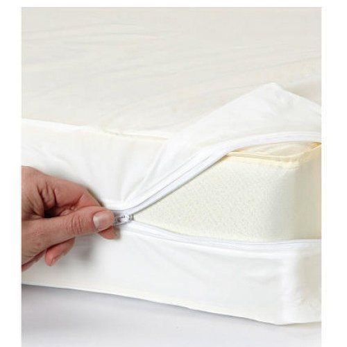 Zipper Anti Allergy Bed Bug Waterproof Mattress Total Encasement Protector  Cover (Double)