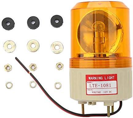 Power Indicator Signal Light Pack of 4 Red LED Pilot Signal Lamp Buzzer Alarm Signal Indicator Light Lamp Indicator LED Red Light Bulb LEHASI AC//DC 12V Indicator Light