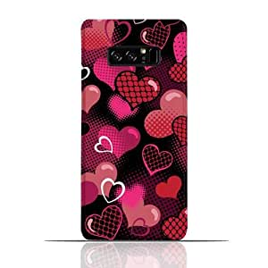 Samsung Galaxy Note 8 TPU Silicone Case With Valentine hearts seamless Pattern