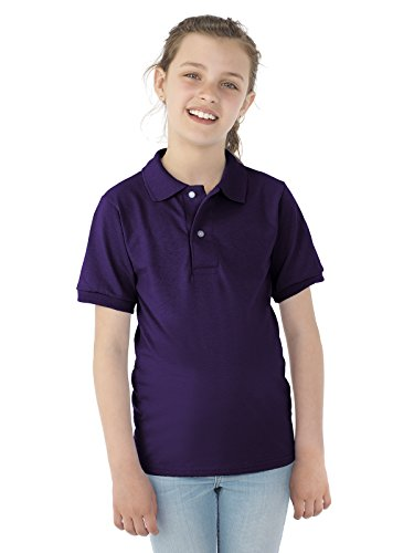 Jerzees Youth 5.6 oz., 50/50 Jersey Polo with SpotShield S DEEP PURPLE - Jerzees Youth Jersey Polo