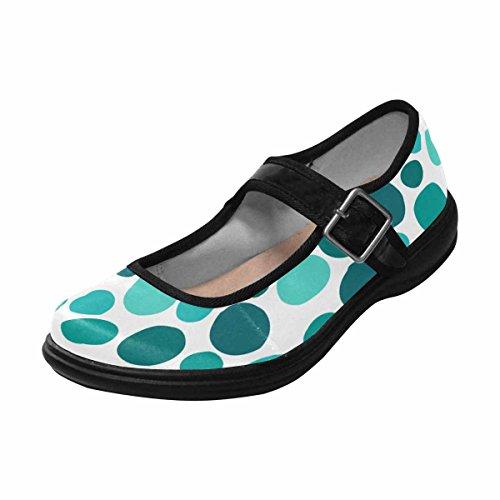 InterestPrint Womens Comfort Mary Jane Flats Casual Walking Shoes Multi 5 6dx5vvzp