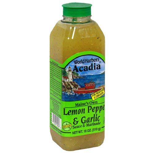 World Harbors Lemon Pepper Garlic Marinade, 18-Ounce Bottles (Pack of (Lemon Garlic Marinade)