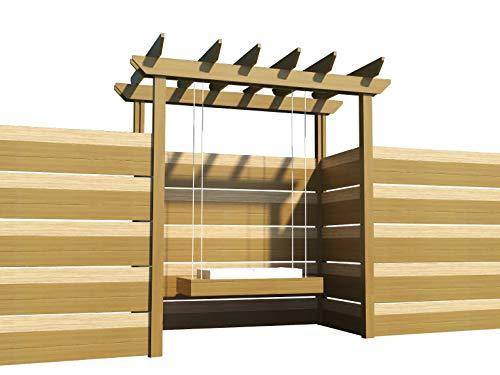 Pergola Swing Plans DIY Woodworking Outdoor Swinging Arbor Garden Porch Swings]()