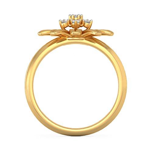 14K Or jaune, 0.11carat Diamant Blanc (IJ   SI) en diamant