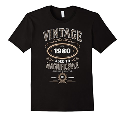 Vintage Aged To Magnificence 1980 38th Birthday Gift T-shirt