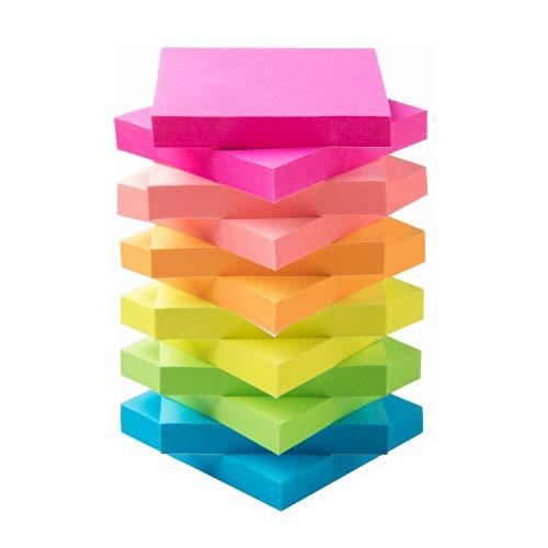 Sticky Notes 3x3 Self-Stick Notes Bright Multi Colors Pink Sticky Notes 12 Pads 100 Sheet/Pad (12) ()