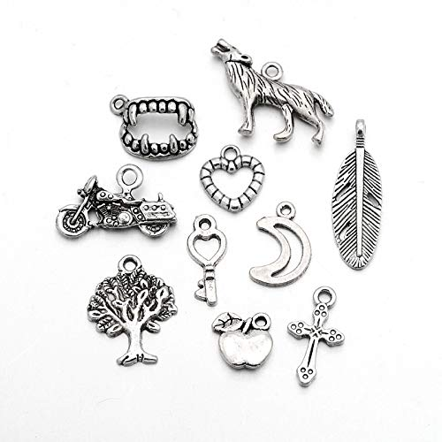 Craftdady 20pcs Mixed Set of Antique Silver Twilight