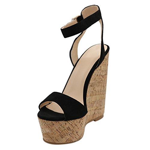 MERUMOTE - Sandalias de vestir para mujer negro