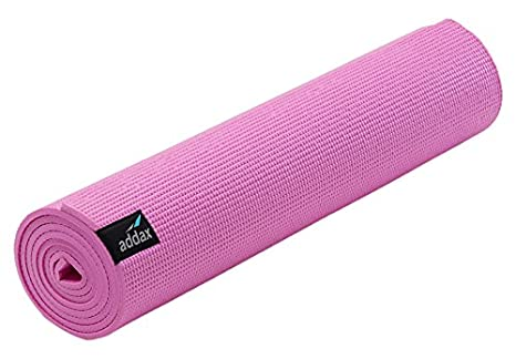 Addax - Esterilla de Yoga Antideslizante, 4 mm / 6 mm de Grosor, 6 mm, Color Rosa