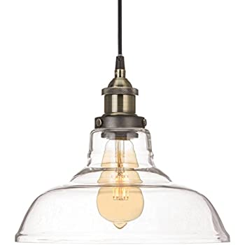 Lucia lighting pendant ceiling light mid century vintage revel rutherford vintage edison industrial 1 light pendant glass hanging light aloadofball Image collections