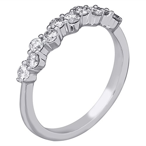 14K White Gold 1/2cttw Diamond Anniversary Ring