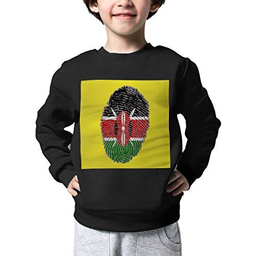 AW-KOCP Children's Kenya Flag Fingerprint Sweater Boys Girls Pullover Sweaters for $<!--$17.76-->