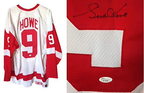 Gordie Howe Red Wings Autographed Signed Authentic Hockey Jersey Fight Strap HOF - JSA Authentic