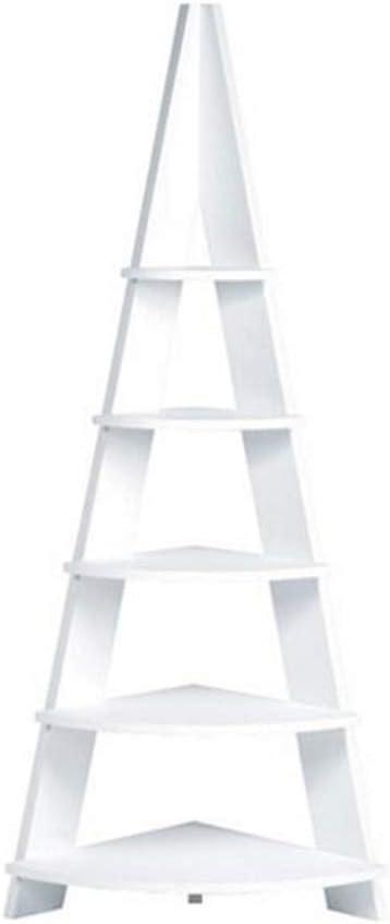 Jcnfa-Estante Estantería De Escalera Estantería De Estante Estantes De Oficina Estantería Escalera De Almacenamiento Vintage Estante De La Torre De Columna Vertebral Estantería De Esquina: Amazon.es: Hogar