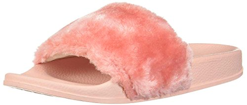 Light Pink Slides - NewYouDirect Sandals Slippers, Fashion Women and Men Flip Flop Fur Slide Slip On Flats Shoes (8B(M) US, Light Pink)