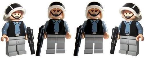 Rebel Trooper Army (4) - LEGO Star Wars Mini Figures with Short Blasters
